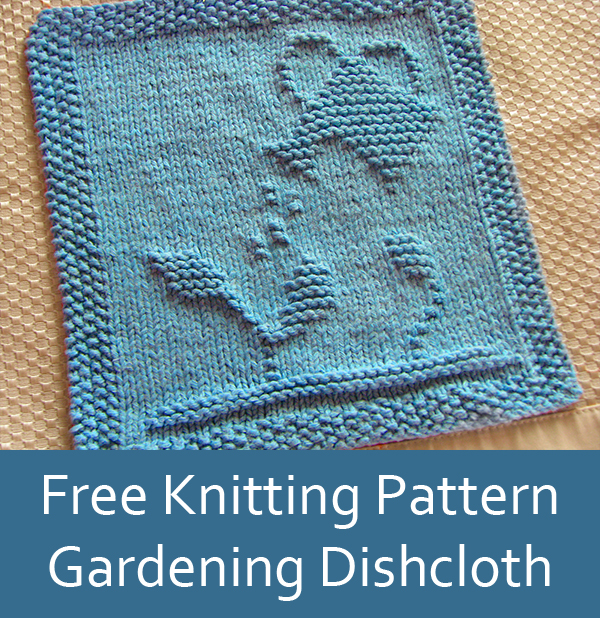 Free Knitting Pattern for Gardening Dish Cloth