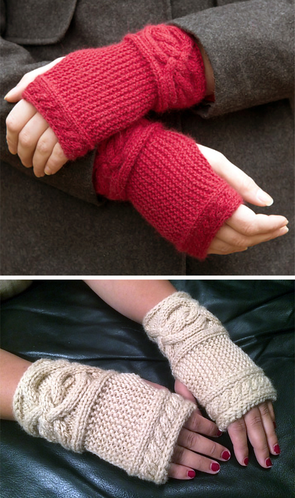 Fingerless Mitts and Gloves Knitting Patterns - In the Loop Knitting