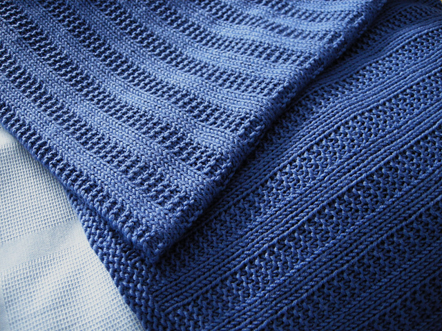 Free knitting pattern for Garter Rib Baby Blanket and more baby blanket knitting patterns