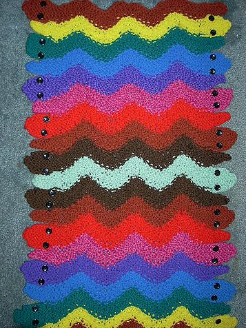 Free knitting pattern for Garter Snake Rug