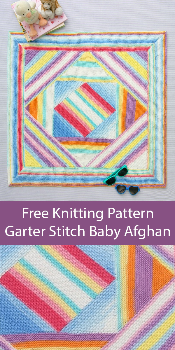 Free knitting pattern for Garter Stitch Baby Blanket Afghan