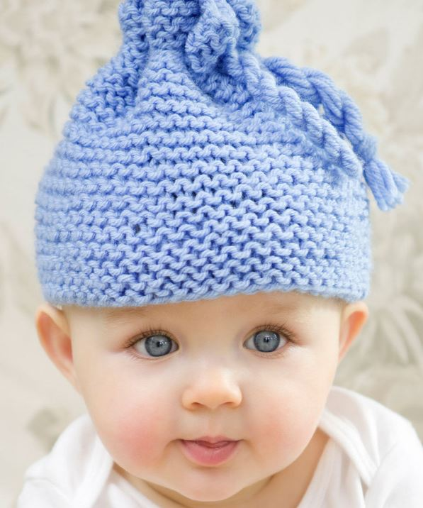 Free Knitting Pattern for Garter Stitch Baby Hat