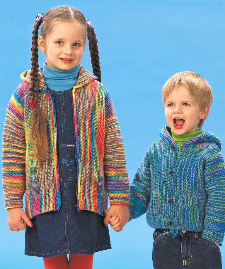 Free Knitting Patterns for Garter Stitch Jackets for Children