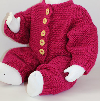 Knitting Pattern Garter Stitch Baby Onesie