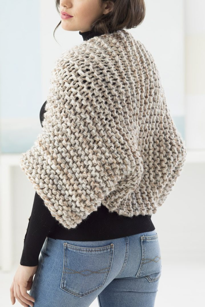 Free Knitting Pattern for Beginner Garter Stitch Shrug