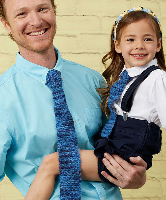 Free Knitting Pattern for Garter Stitch Ties