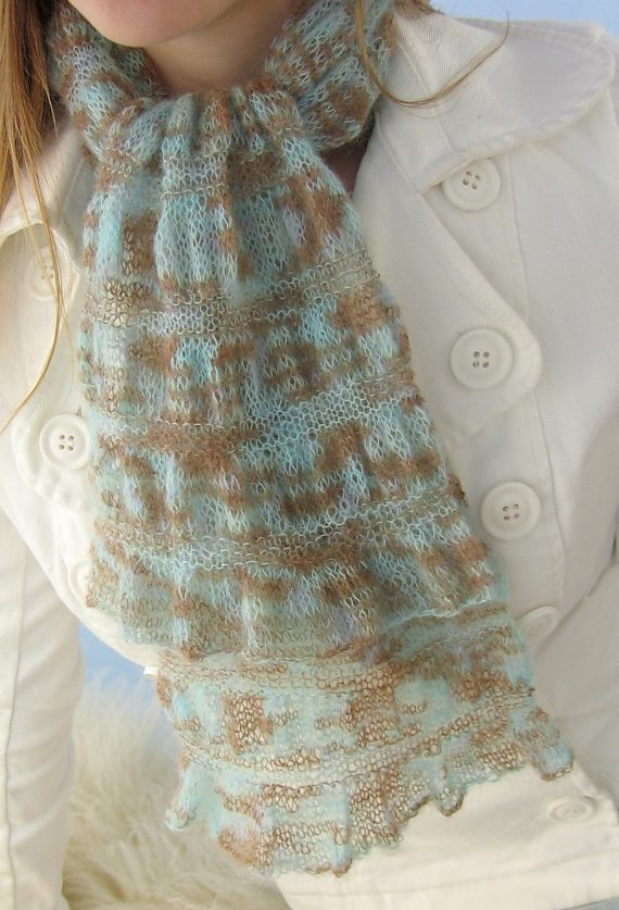 Free Knitting Pattern for Gathered Scarf