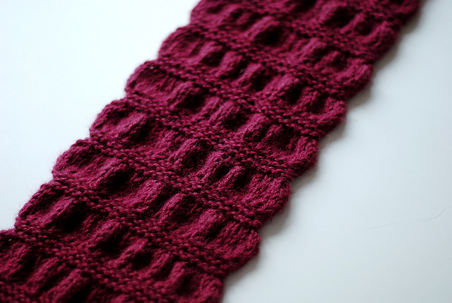 Free knitting pattern for Gathered Scarf and more scarf knitting patterns
