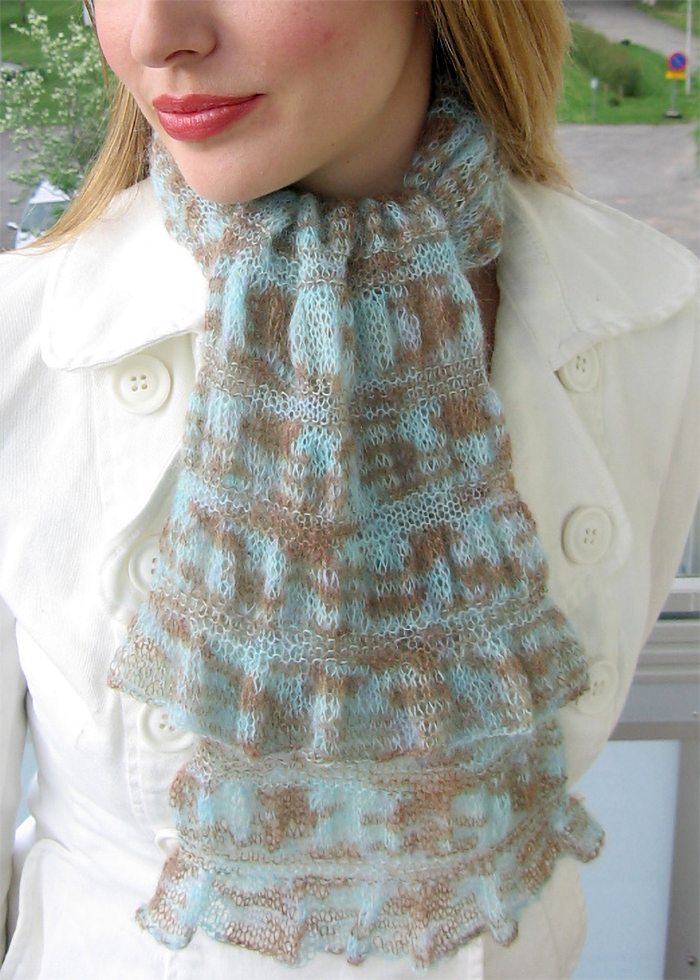 Free Knitting Pattern for Easy Gathered Scarf