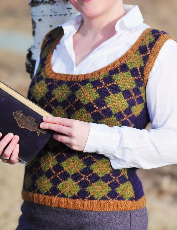 Free Knitting Pattern for Geek Chic Vest