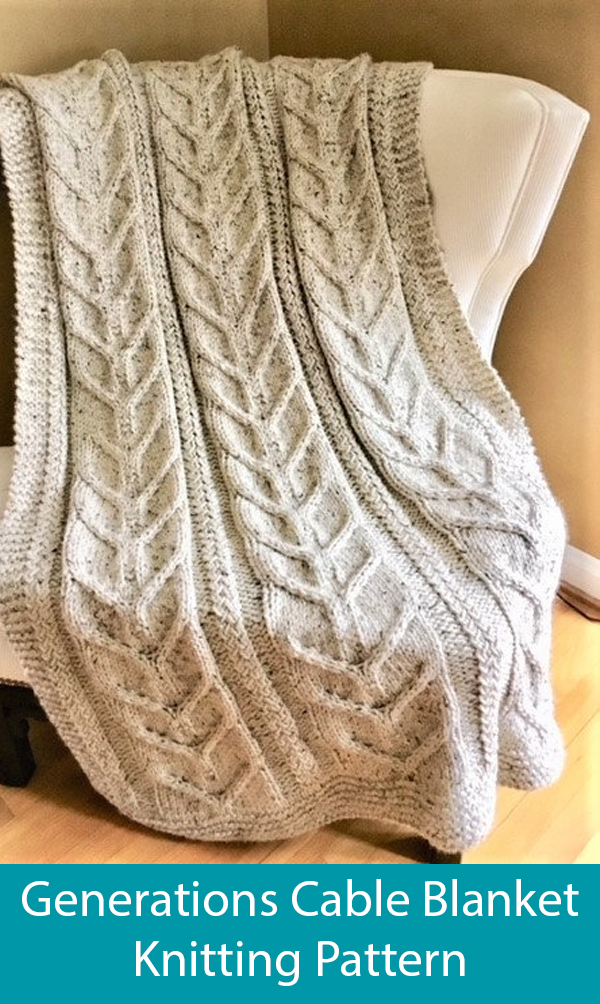 Knitting Pattern for Generations Cable Blanket