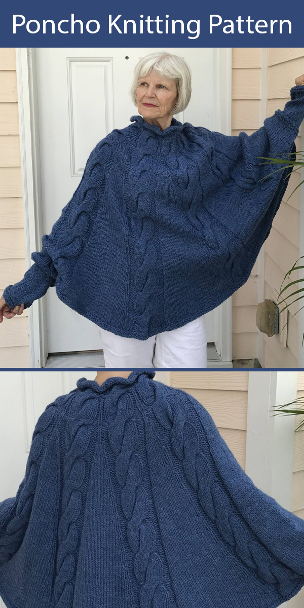 Knitting Pattern for AGenevieve Poncho