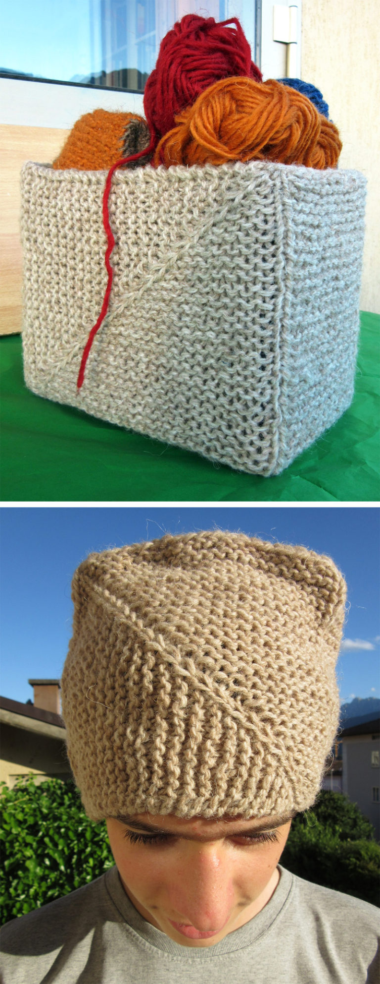 Free Knitting Pattern for Gennaio Basket