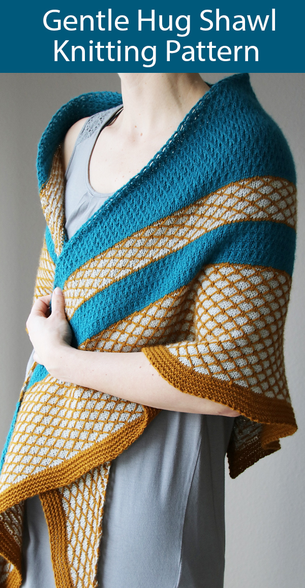 Shawl Knitting Pattern Gentle Hug Shawl