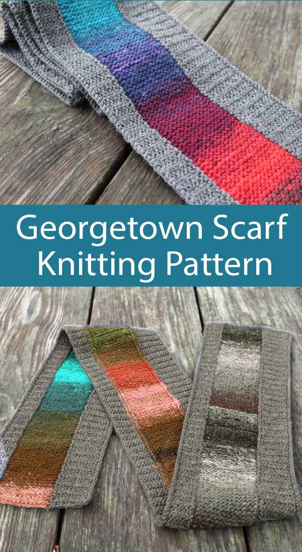Knitting Pattern for Georgetown Scarf