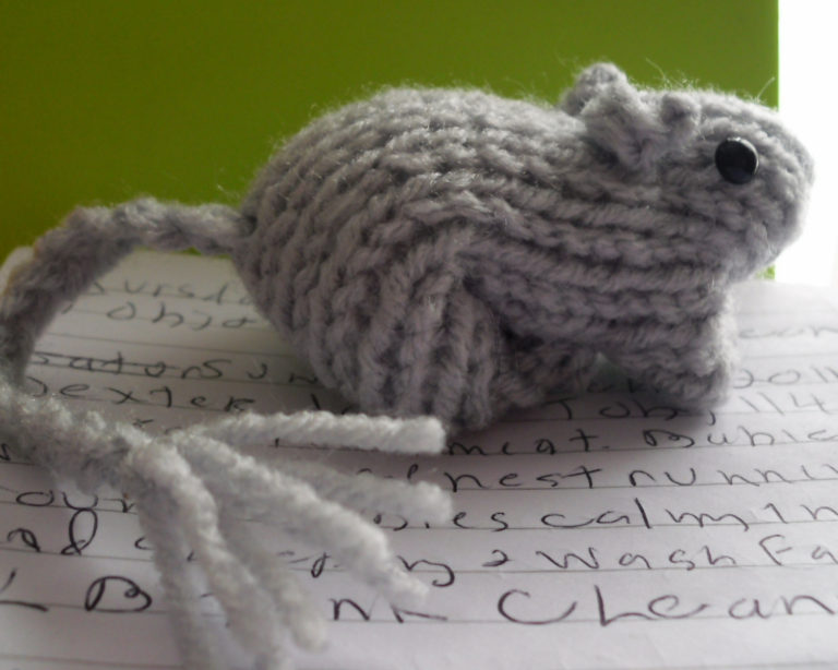 Free Knitting Pattern for Gerbil Toy