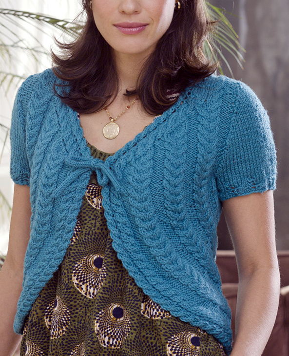 Free Knitting Pattern for Get Cabled Shrug