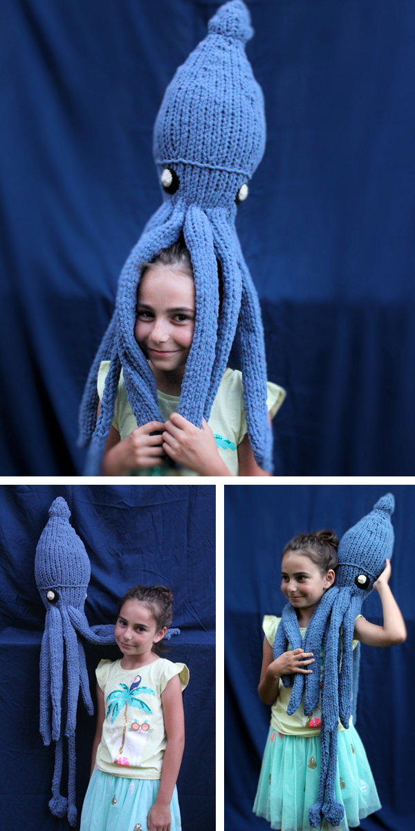 Free until July 8, 2019 Knitting Pattern for Giant Squid Toy