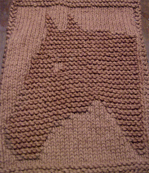Free Knitting Pattern for Easy Giddy-up Washcloth