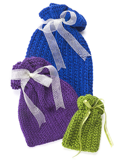 Free knitting patterns for drawstring gift bags