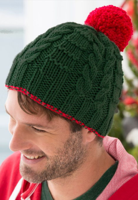 Free Knitting Pattern for Gift Beanie Knit Flat