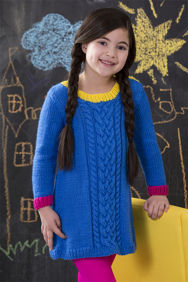 Free knitting pattern for Cabled Dress