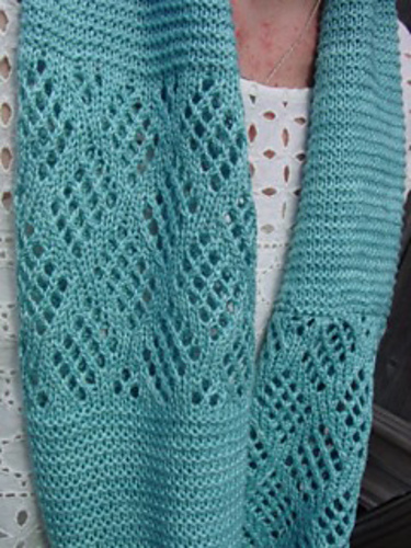 Glacier Cowl free knitting pattern by Jo Strong and more free cowl knitting patterns at http://intheloopknitting.com/cowl-knitting-patterns/