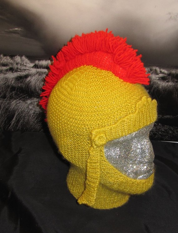 Gladiator Helmet Hat Knitting Pattern and more fun knitting patterns