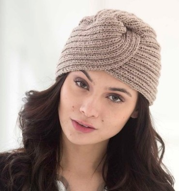 Glam Turban Free Knitting Pattern