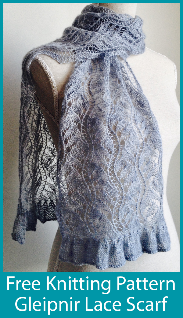 Free Knitting Pattern for Gleipnir Lace Scarf