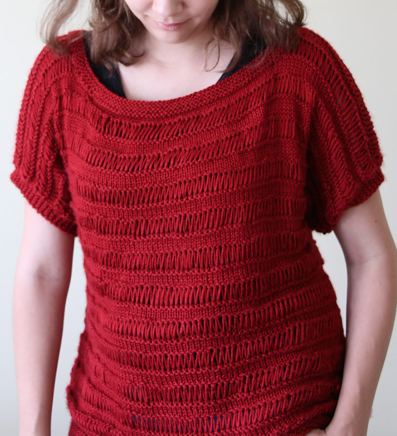 Free Knitting Pattern for Drop Stitch Tunic