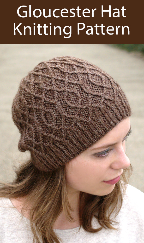 Hat Knitting Pattern Gloucester Cabled Hat