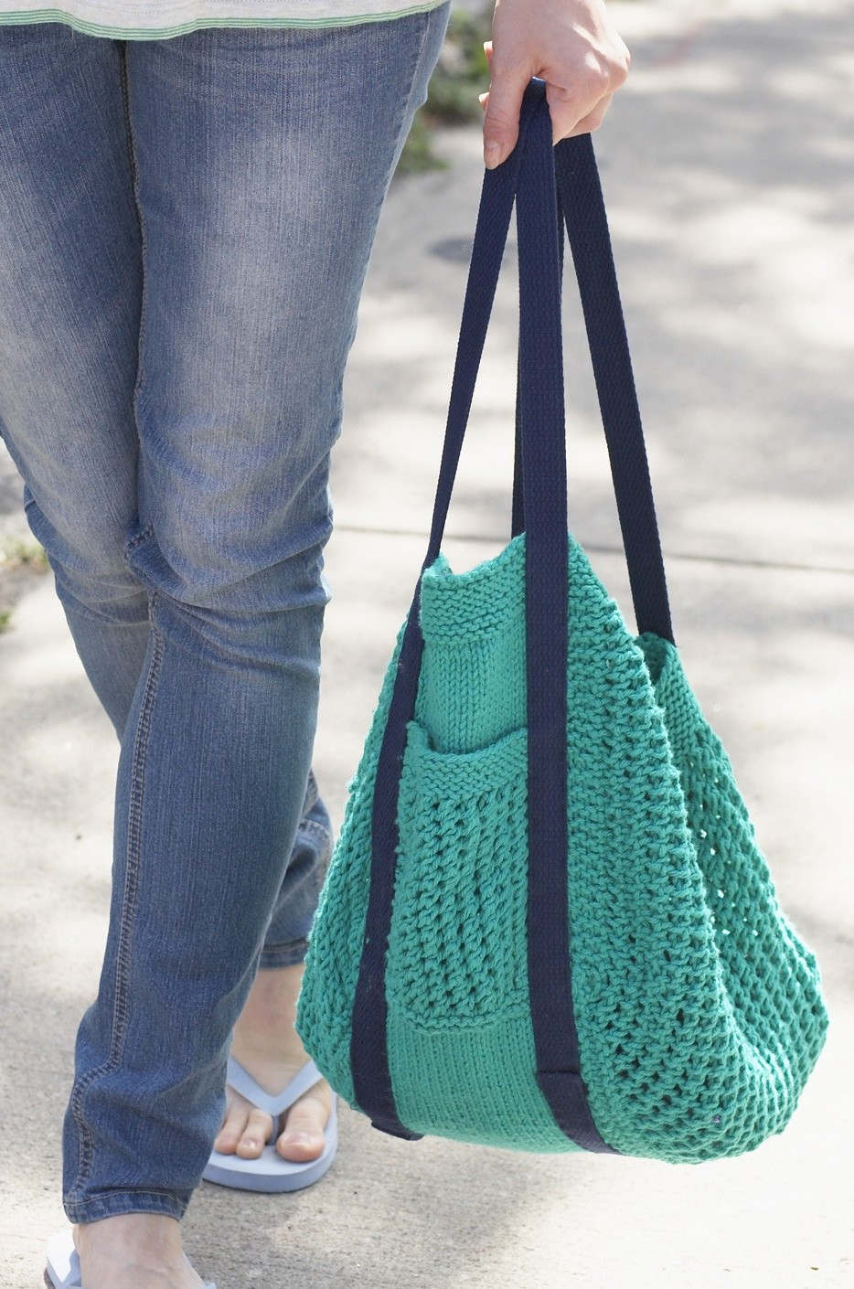 Free knitting pattern for Go Green Market Bag