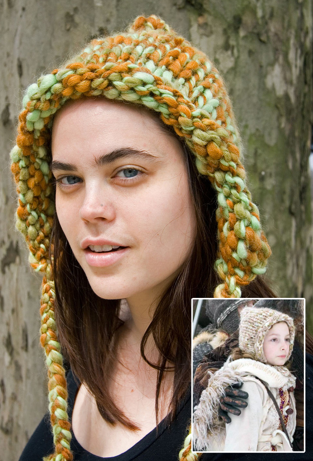 Free Knitting Pattern for Golden Compass - Lyra's Hood