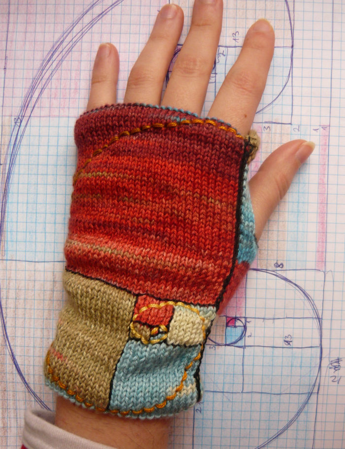 Free Knitting Pattern for Golden Mean Mitts