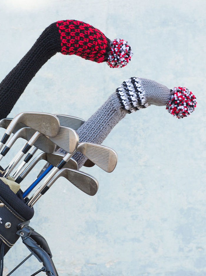 Free Knitting Pattern for Golf Club Covers