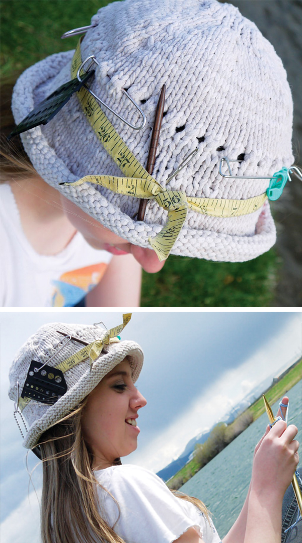 Free Knitting Pattern for Gone Knittin' Hat