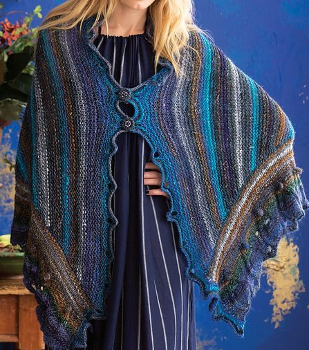 Knitting pattern for Gothic Shawl