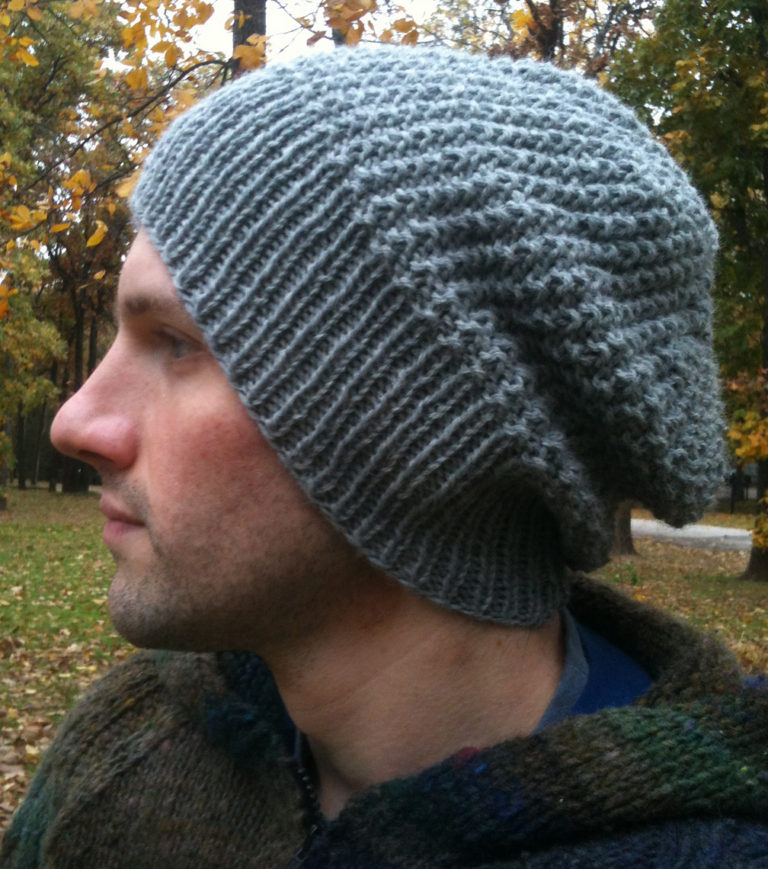 Free Knitting Pattern for Graham Slouchy Beanie
