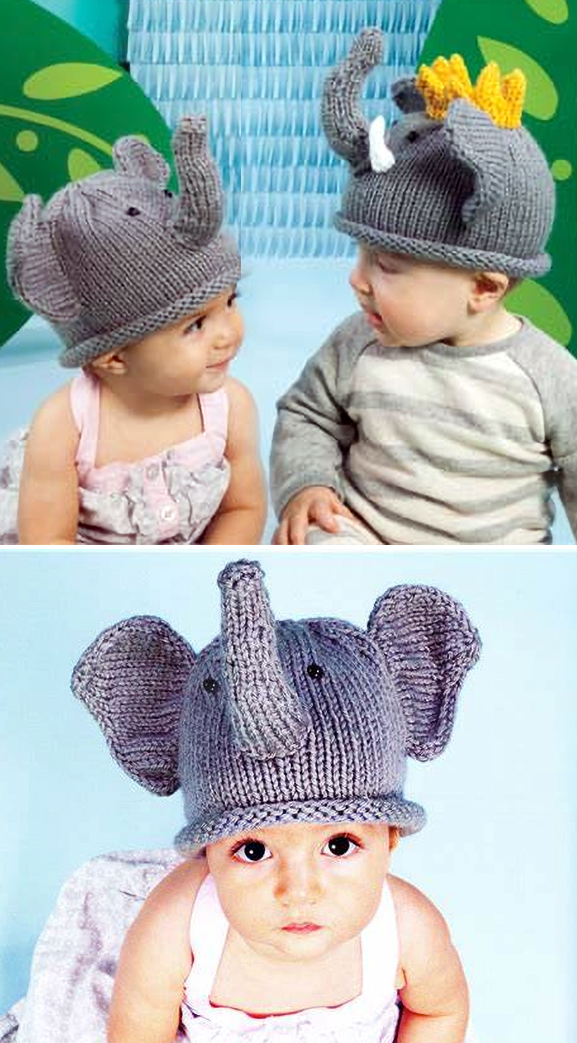 Free Knitting Pattern for Elephant Hat