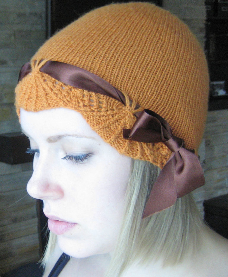 Free Knitting Pattern for Chapeau Marnier Cloche