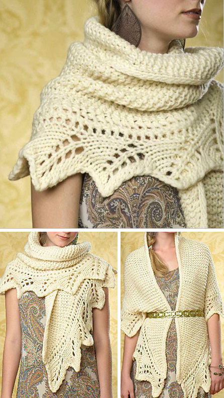 Knitting Pattern for Grand Palais Shawl