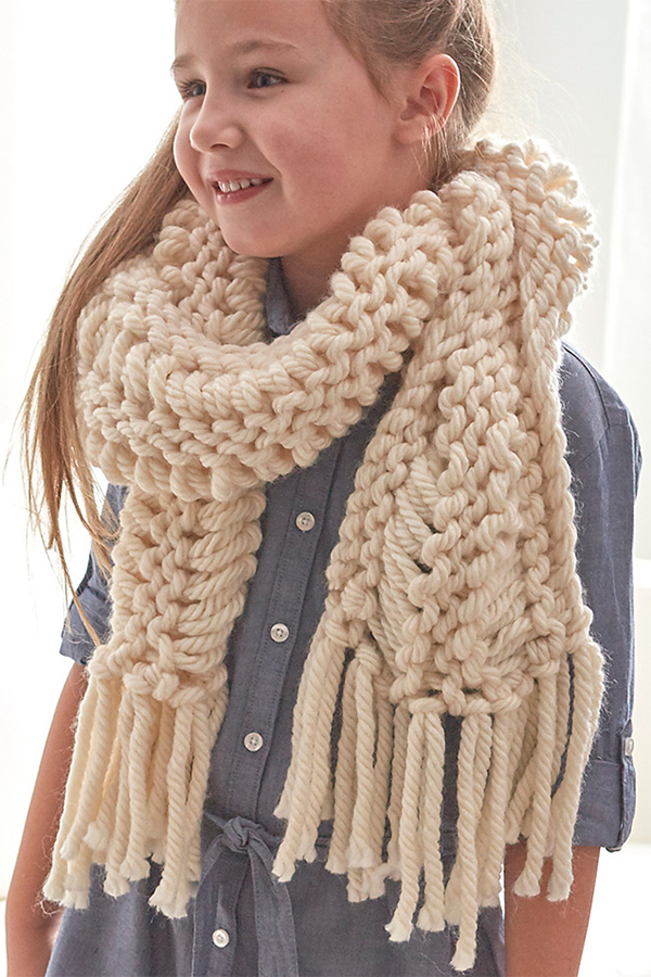 Easy Free Knit Scarf Patterns