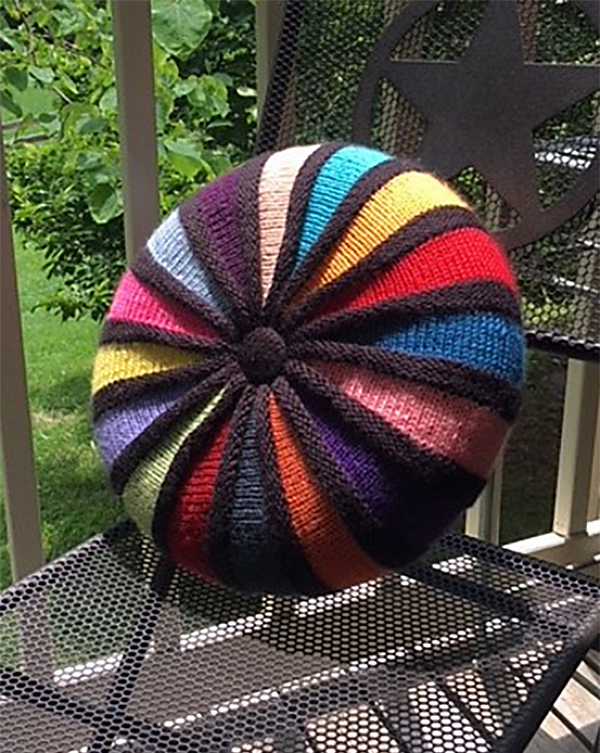 Free Knitting Pattern for Circle Wedge Pillow