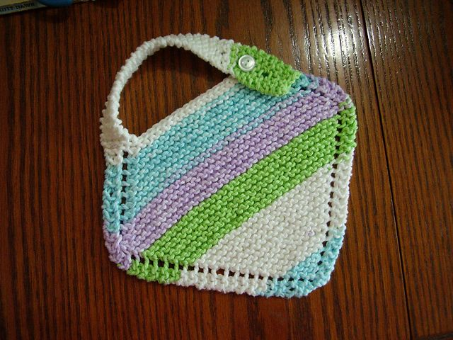 Grandmother's Favorite Baby Bib Free Knitting Pattern