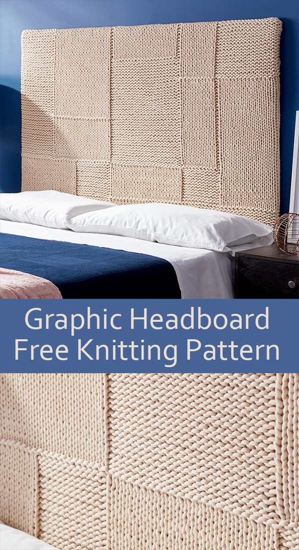 Free Knitting Pattern for Easy Graphic Headboard
