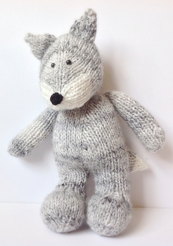 Knitting Pattern for Gray Wolf by Amanda Berry