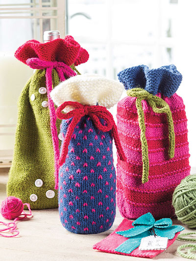 Knitting Pattern for Great Gift Bags