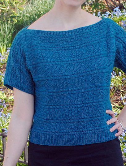 Free Knitting Pattern for The Great Gansey Top