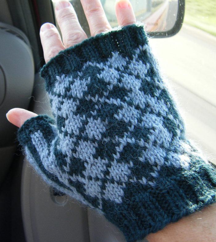 Free Knitting Pattern for Dapper Dame Fingerless Mitts